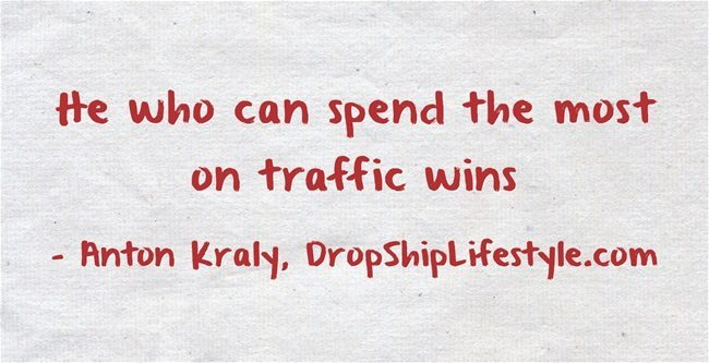 spend on traffic quote