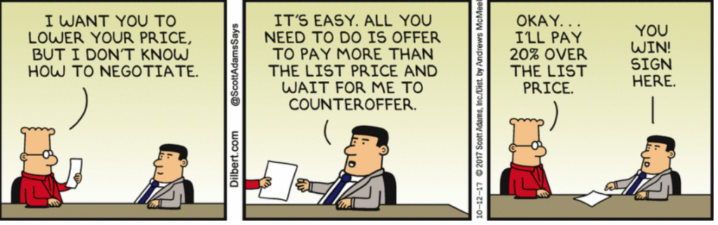 dilbert comic negotiating