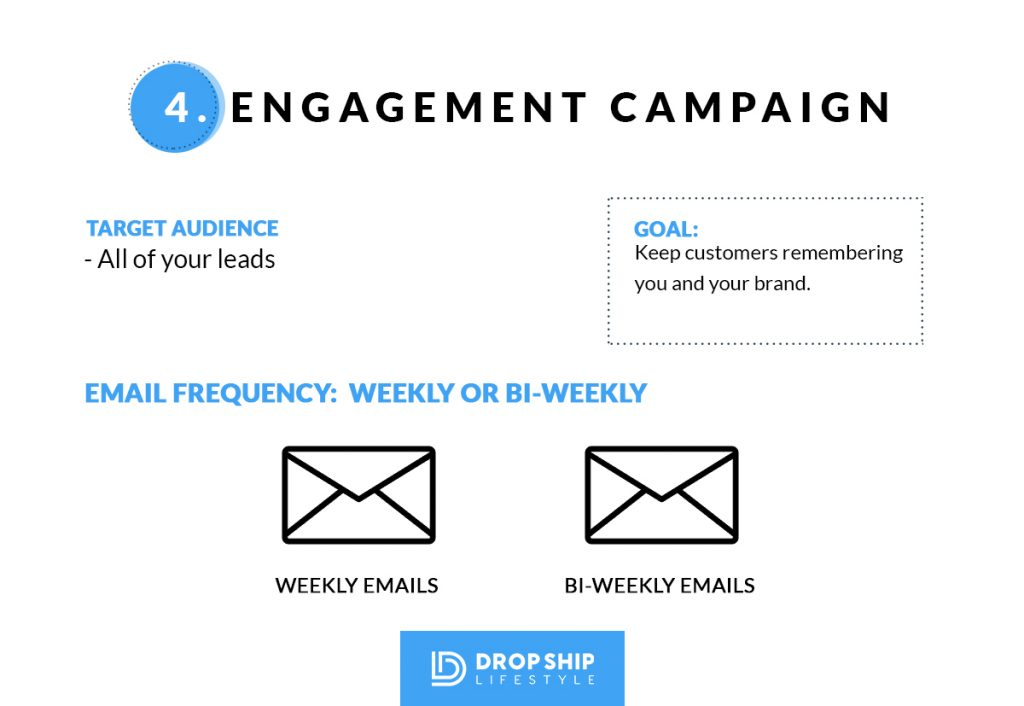 Shopify Drop Shipping Engagement Email Campaign
