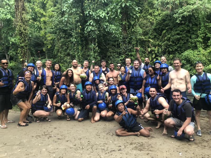 DSL retreat, river rafting