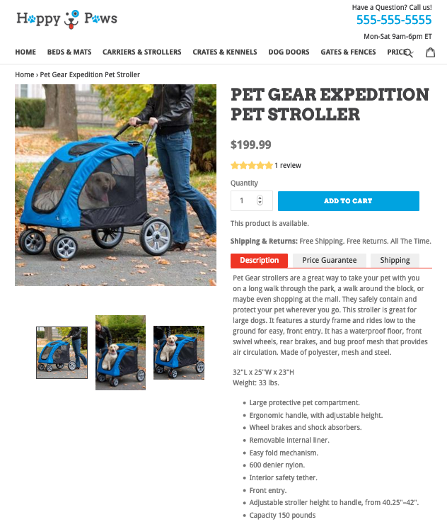 product description examples