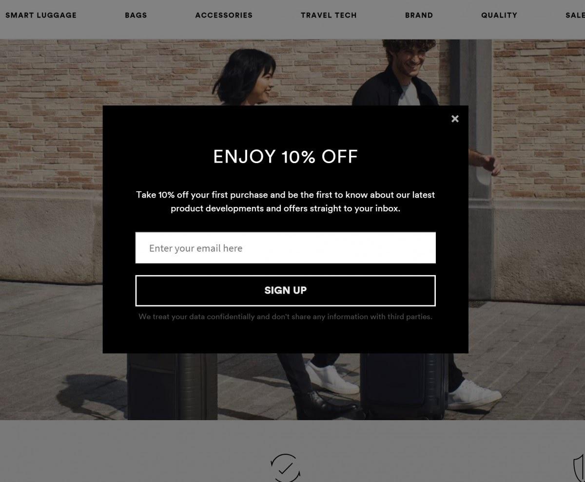 email marketing capture box