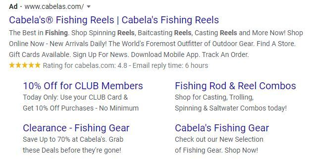 sitelinks extension for google ads