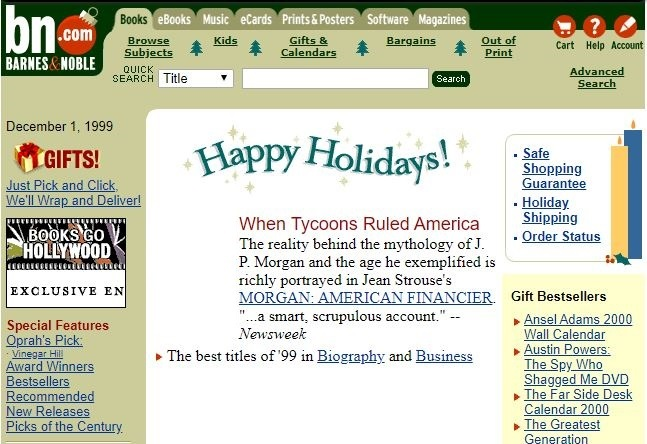 barnes and noble ecommerce wayback